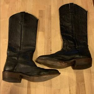 """Frye Billy Pull On Women Black Leather 15"""" Boots"""